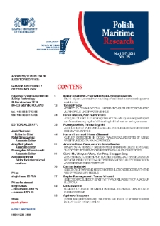 Polish Maritime Research. No 1(97) 2018