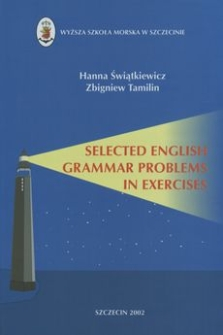 Selected English grammar problems in exercises